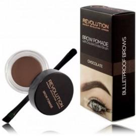Makeup Revolution Brow Pomade priemonė antakiams su šepetėliu Chocolate 2.5 g.