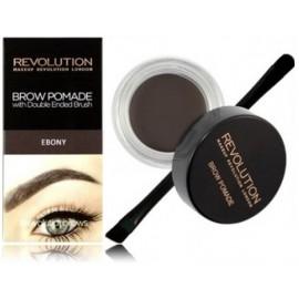 Makeup Revolution Brow Pomade priemonė antakiams su šepetėliu Ebony 2.5 g.