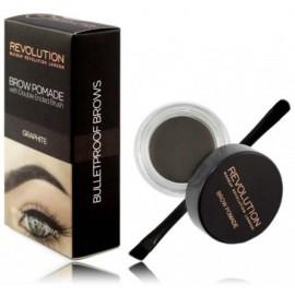 Makeup Revolution Brow Pomade priemonė antakiams su šepetėliu Graphite 2.5 g.
