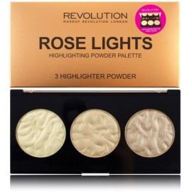 Makeup Revolution Highlighter Palette Rose Lights švytėjimo suteikianti paletė 15 g.