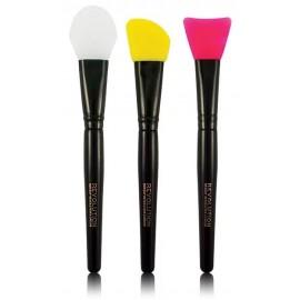 Makeup Revolution Silicone Contour kontūravimo šepetėlių rinkinys 3 vnt.