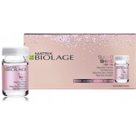 Matrix Biolage Sugar Shine Mega Gloss Treatment žvilgesio plaukams suteikiančios ampulės 10x6 ml.