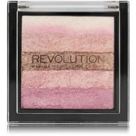 Makeup Revolution Vivid Shimmer Brick švytėjimo suteikianti priemonė Pink Kiss 13 g.