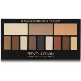 Makeup Revolution Ultra Eye Contour Light & Shade šešėlių paletė 14 g.