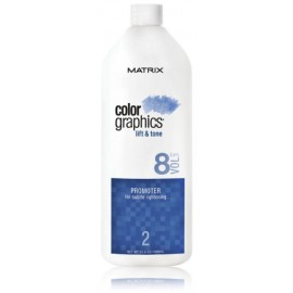 Matrix Color Graphics Lift & Tone Promoter 8 Vol 2.4% oksidacinė emulsija 946 ml.