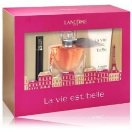Lancome La Vie Est Belle rinkinys moterims (30 ml. EDP + 50 ml. kūno losjonas + 2 ml. blakstienų tušas)