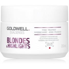 Goldwell Dualsenses Blondes Highlights 60 Sec greito poveikio atkuriamoji priemonė/kaukė 200 ml.