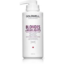 Goldwell Dualsenses Blondes Highlights 60 Sec greito poveikio atkuriamoji priemonė/kaukė