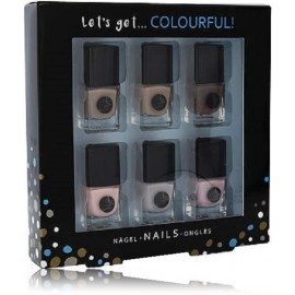 2K Let´s Get Colourful! Nudes Nail Polish nagų lakų rinkinys (6x5 ml.)