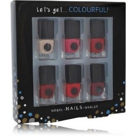 2K Let´s Get Colourful! Classics Nail Polish nagų lakų rinkinys (6x5 ml.)