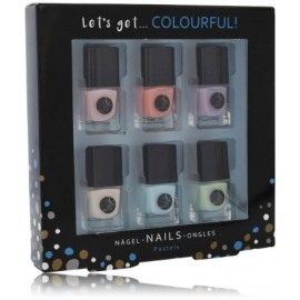 2K Let´s Get Colourful! Pastels Nail Polish nagų lakų rinkinys (6x5 ml.)