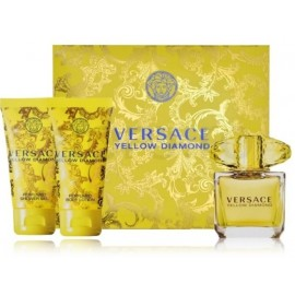 Versace Yellow Diamond rinkinys moterims (50 ml. EDT + losjonas + gelis)
