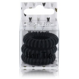 2K plaukų gumytės (3 vnt. Juoda spalva)
