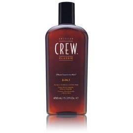 American Crew 3-IN-1 šampūnas/kondicionierius/kūno prausiklis vyrams 450 ml.