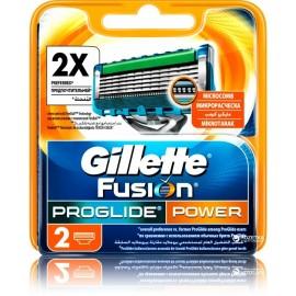 Gillette Fusion ProGlide Power skustuvo galvutės 2 vnt.