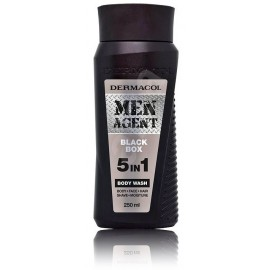 DERMACOL Men Agent 5v1 Black Box dušo gelis  vyrams 250 ml.