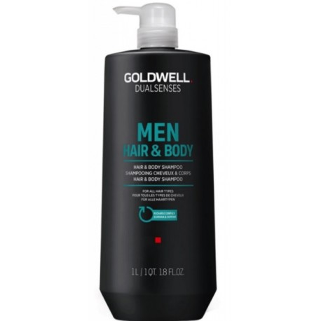 Goldwell Dualsenses For Men Hair & Body šampūnas ir dušo gelis vyrams 1000 ml.