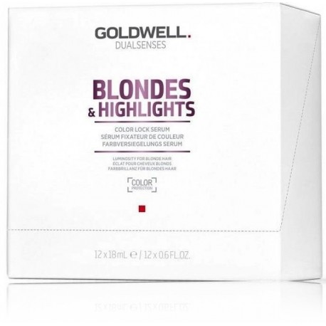 Goldwell Dualsenses Blondes Highlights Lock Serum serumas šviesiems plaukams  12x18 ml.