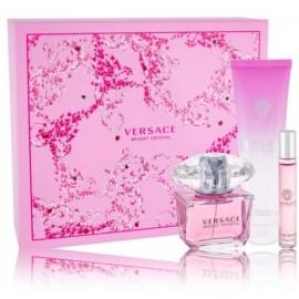 Versace Bright Crystal rinkinys moterims (90 ml. EDT + 10 ml. EDT + 150 ml. dušo gelis)