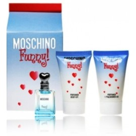 Moschino Funny! rinkinys moterims (4 ml. EDT + gelis + losjonas)