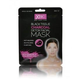 Xpel Black Tissue Charcoal medžio anglies veido kaukė 28 ml.