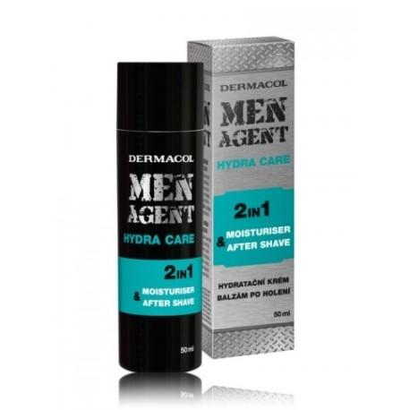 Dermacol Men Agent Hydra Care gaivinamasis balzamas po skutimosi 50 ml.