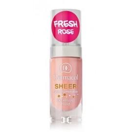 Dermacol Sheer Face Illuminator švytėjimo suteikiantis veido kremas 01 Fresh Rose 15 ml.