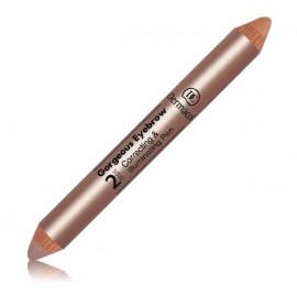 Dermacol Gorgeous Eyebrow 2in1 korekcinė ir švytėjimo suteikianti priemonė antakiams 10g.