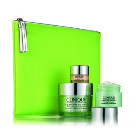 Clinique Superdefence rinkinys veidui (dieninis kremas+naktinis kremas+kremas akių sričiai+kosmetinė)