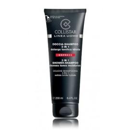 COLLISTAR Linea Uomo 3in1 prausiklis-šampūnas vyrams 250 ml.