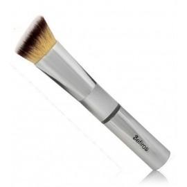 Sefiros Silver Angular Foundation Brush kampinis makiažo pagrindo šepetėlis