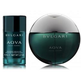 Bvlgari Aqva Pour Homme rinkinys vyrams (100 ml. EDT + 75 ml. dezodorantas)