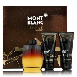 Mont Blanc Legend Night rinkinys vyrams (100 ml. EDP + 100 ml. dušo gelis + 100 ml. balzamas po skutimosi)