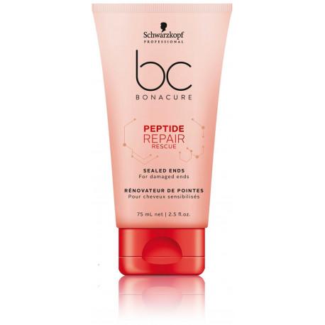 Schwarzkopf Professional BC Peptide Repair Fluid kremas pažeistiems plaukams 75 ml.