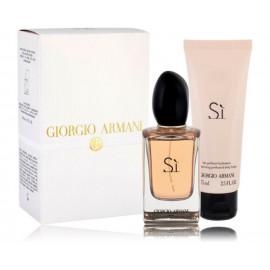 Giorgio Armani Si rinkinys moterims (50 ml. EDP + 75 ml. kūno losjonas)