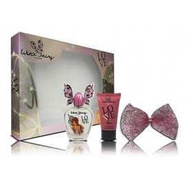 Winx Fairy Couture Flora rinkinys mergaitėms (100 ml. EDT + losjonas + plaukų segtukas)