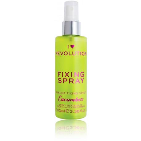 Makeup Revolution I Heart Revolution Fixing Spray Cucumber makiažo fiksavimo priemonė 100 ml.
