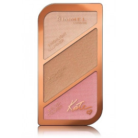 Rimmel Kate Sculpting veido modeliavimo paletė 001 Golden Sands 18,5 g.