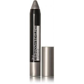 Gabriella Salvete Eyeshadow & Eyeliner 2in1 akių šešėliai-pravedimas 01 Metallic Grey 3 g.