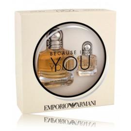 Armani Because It´s You rinkinys moterims (50 ml. EDP + 7 ml. EDP)