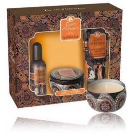 Tesori D Oriente Lotus Flower & Acacia´s Milk rinkinys moterims (100 ml. EDT + 250 ml. dušo kremas + aromatinė žvakė)