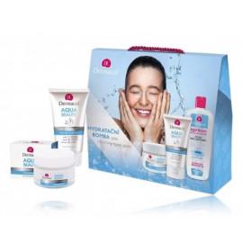 Dermacol Aqua Beauty rinkinys (50 ml. veido kremas + 150 ml. veido prausiklis + 400 ml. micelinis vanduo)