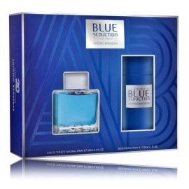 Antonio Banderas Blue Seduction for Man rinkinys vyrams (100 ml. EDT + 150 ml. dezodorantas)