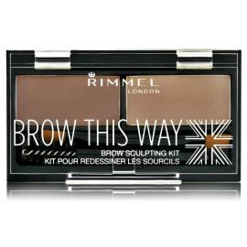 Rimmel Brow This Way rinkinys antakiams 2,4 g. Spalva Medium Brown