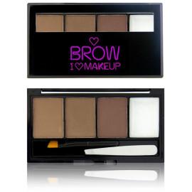 Makeup Revolution I Love Makeup Brow Kit rinkinys antakiams I Woke Up This Groomed 3 g.