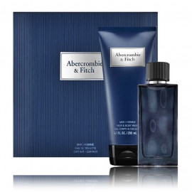 Abercrombie & Fitch First Instinct Blue rinkinys vyrams (50 ml. EDT + gelis)