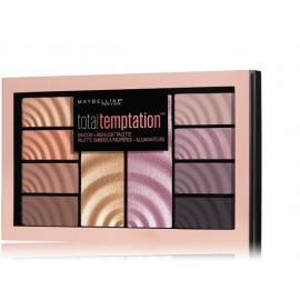 Maybelline akių šešėlių ir švytėjimo suteikiančių priemonių paletė of Total Temptation 16 g.