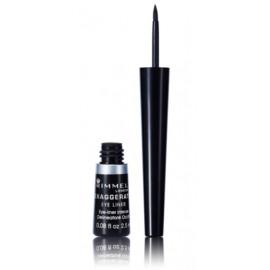 Rimmel Exaggerate Eye Liner skystas akių vokų pravedimas 2,5 ml. Spalva1 Black