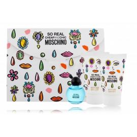 Moschino So Real rinkinys moterims (4,9 ml. EDT + 25 ml. dušo gelis + 25 ml. kūno losjonas)