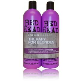 Tigi Bed Head Dumb Blonde rinkinys (750 ml. šampūnas + 750 ml. kondicionierius)